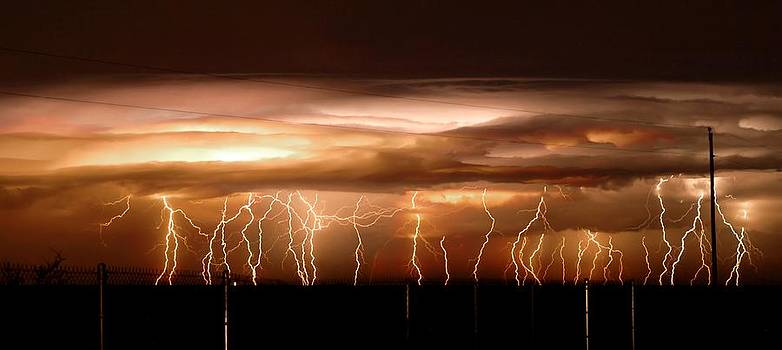 Intense electrical storm by John Dickinson