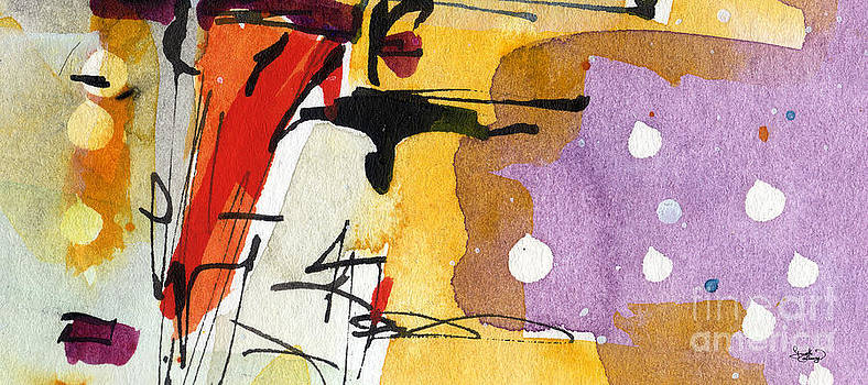 Ginette Fine Art LLC Ginette Callaway - Intuitive Abstract Venice Watercolor and Ink