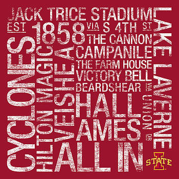 Iowa State College Colors Subway Art by Replay Photos