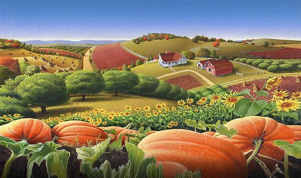 Iphone Case - Appalachian Pumpkin Patch Farm Landscape by Walt Curlee
