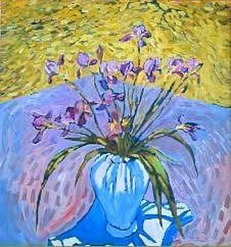 Irises at Montlake by Herschel Pollard