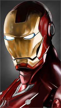 Iron Man Painting by Luis Padilla
