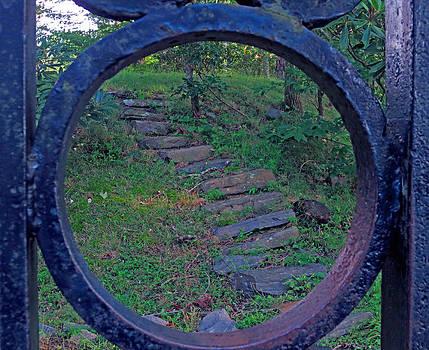 Iron Round Stairway by Lisa Jones