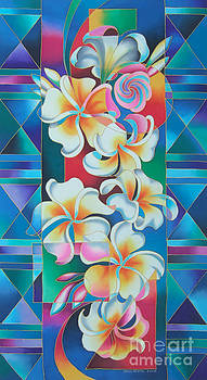Island Flowers - Frangipani by Maria Rova