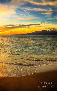 Island Sun Setting  by Kelly Wade