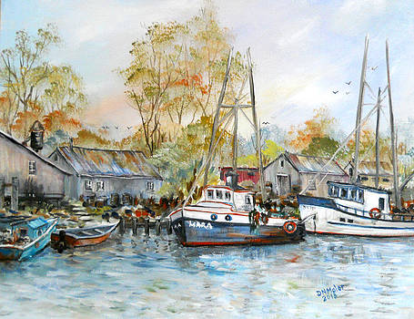 It is a busy day here at the marina by Dorothy Maier