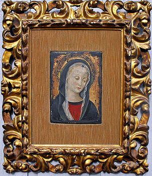 Italian Florentine school oil painting on wood depicting Virgin Mary by Anonymous Florentine school
