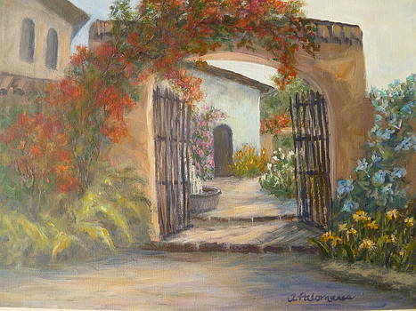 Italian Garden Paintings by Amber Palomares