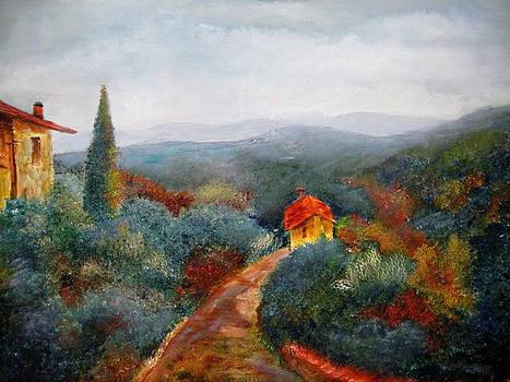 Italian Landscape by Martha Efurd
