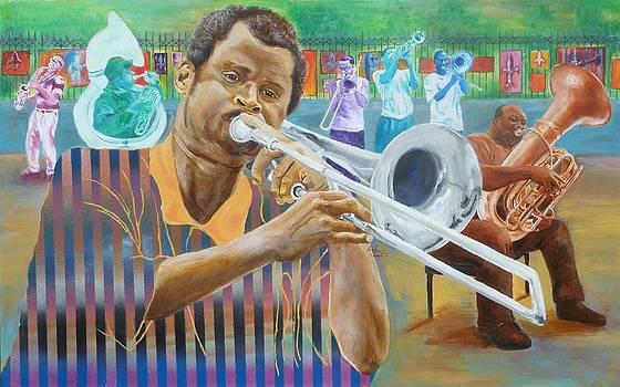Jackson Sqaure Jammin' by Reuben Cheatem
