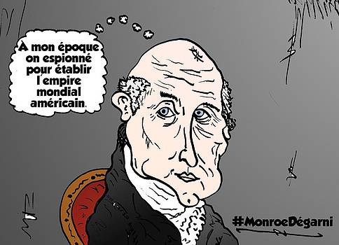 James MONROE chevelu comique by OptionsClick BlogArt