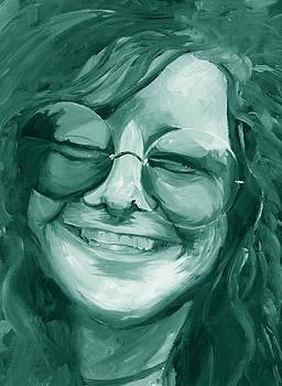 Janis Joplin Green by Michele Engling