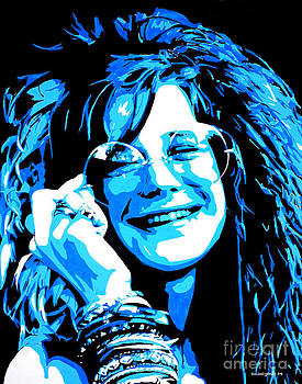 Janis Joplin. by Nancy Mergybrower