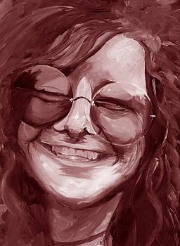 Janis Joplin Red by Michele Engling