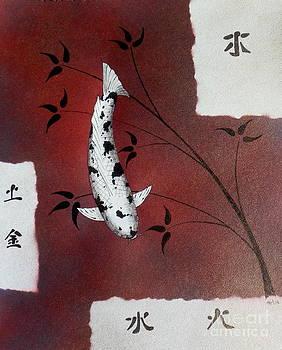 Japanese Koi Bekko Feung Shui by Gordon Lavender