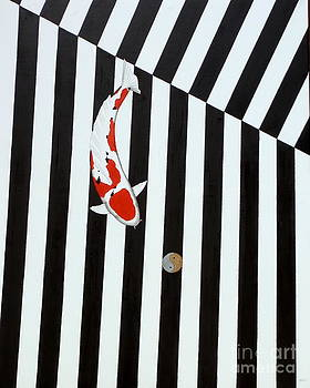 Japanese Koi Taisho Sanke Stripes by Gordon Lavender