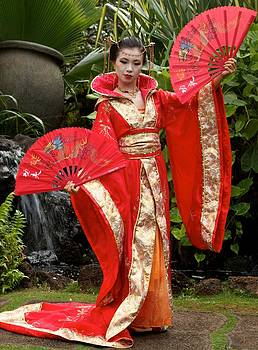 Japanese Lady With Fan by Bonita Hensley