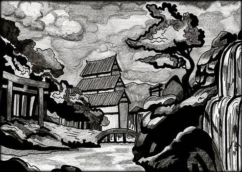 Japanese Landscape by Saki Art