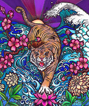 Japanese Tiger by Julie Oakes