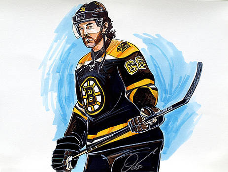 Jaromir Jagr Boston Bruins by Dave Olsen