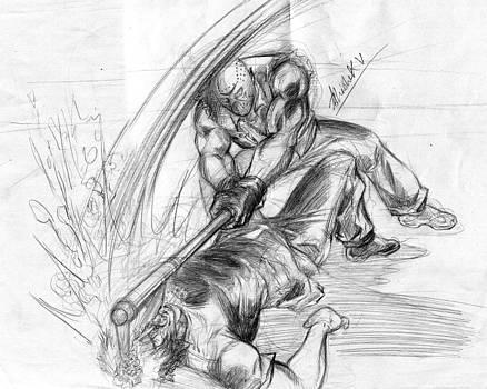 Jason Vorhees Memory Drawing by Abhishek Vishwakarma