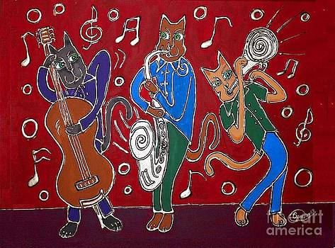 Jazz Cat Trio by Cynthia Snyder