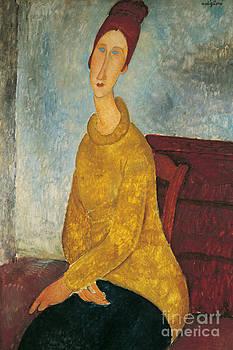 Amedeo Modigliani - Jeanne Hebuterne in Yellow Sweater