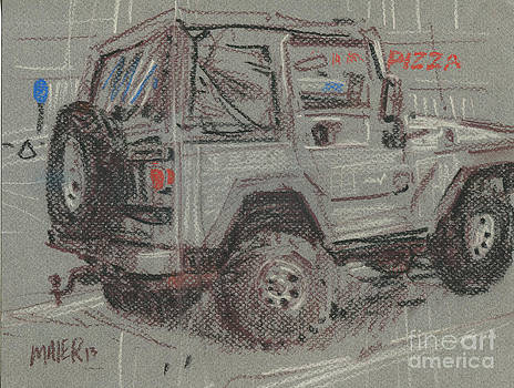 Jeep with Pizza by Donald Maier