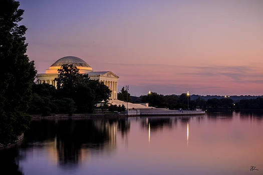 Jefferson Memorial Sunset by Pat Scanlon