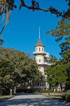 Jekyll Island Club Hotel Front View by Bruce Gourley