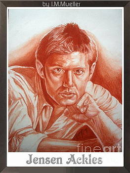 Jensen Ackles in sanguine by Iracema Marianne Muller