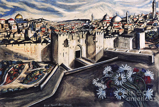 Jerusalem from the Damascus Gate by Yael Avi-Yonah