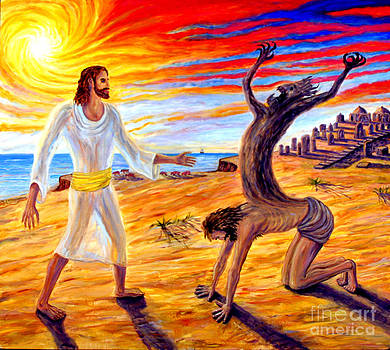 Jesus Evicting A Demon by Arthur Robins