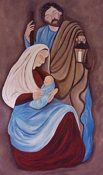 Jesus Joseph and Mary by Christy Saunders Church