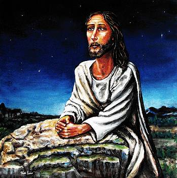 Jesus Praying In The Garden by Todd Spaur