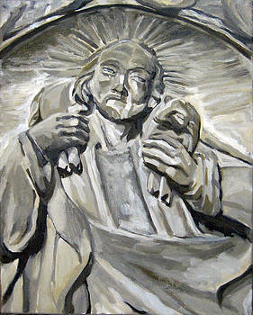 Jesus with Lamb by Yvonne Gaudet