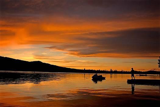 Jet Ski Sunset by Brian Orlovich