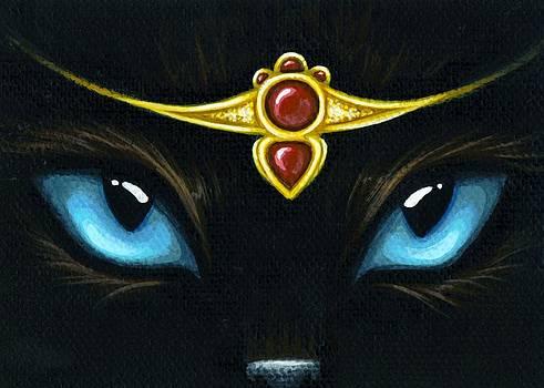 Jeweled Kitty Garnet by Elaina  Wagner