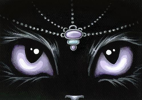 Jeweled Kitty Lilac Topaz by Elaina  Wagner