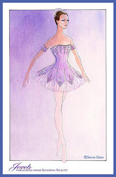 Jewels Tutu Purple by Steven Stines
