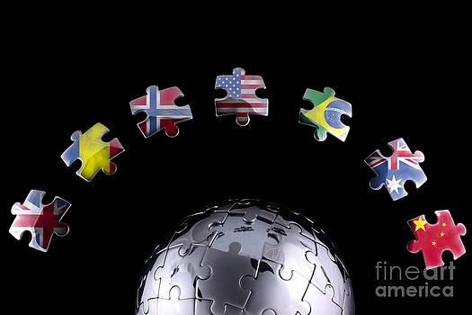 Simon Bratt Photography LRPS - Jigsaw flags around a chrome globe