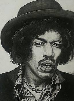 Jimi Hendrix by Aaron Balderas