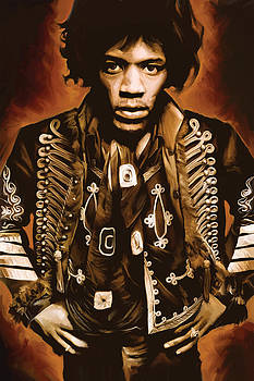 Jimi Hendrix Artwork by Sheraz A