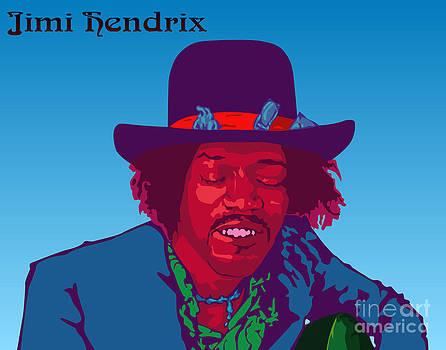 Jimi Hendrix by Patrick Collins