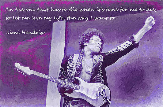 Jimi Hendrix Purp by Robert Rhoads