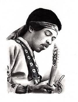 Jimi Hendrix by Rosalinda Markle