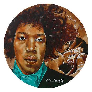Jimi Hendrix W by Belle Massey