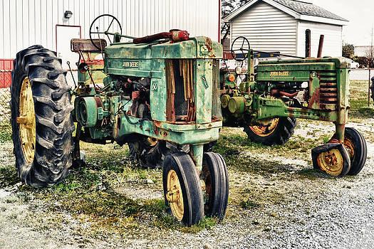 John Deere Past by Kelly Reber