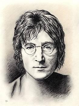John Lennon portrait by Wu Wei