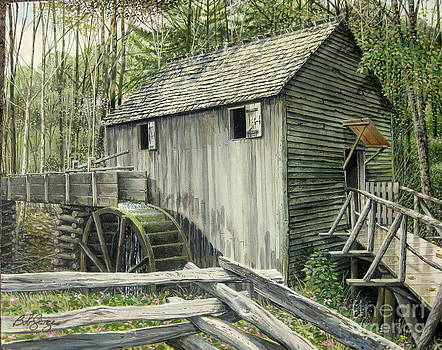 John P. Cable Grist Mill by Bob  George
